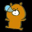鼻ちょうちんを出して寝ている熊