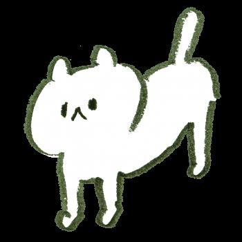 ななめ角度の猫のイラスト