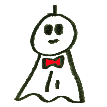 ちょうネクタイをしたてるてる坊主のイラスト