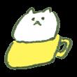 マグカップに入った猫