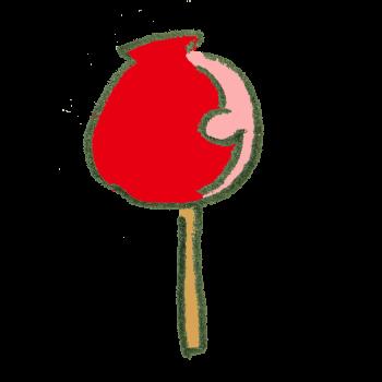 りんごあめのイラスト