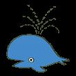 潮を吹くクジラ