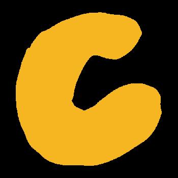 アルファベット「C」