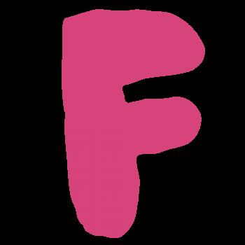 アルファベット「F」