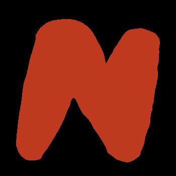 アルファベット「N」