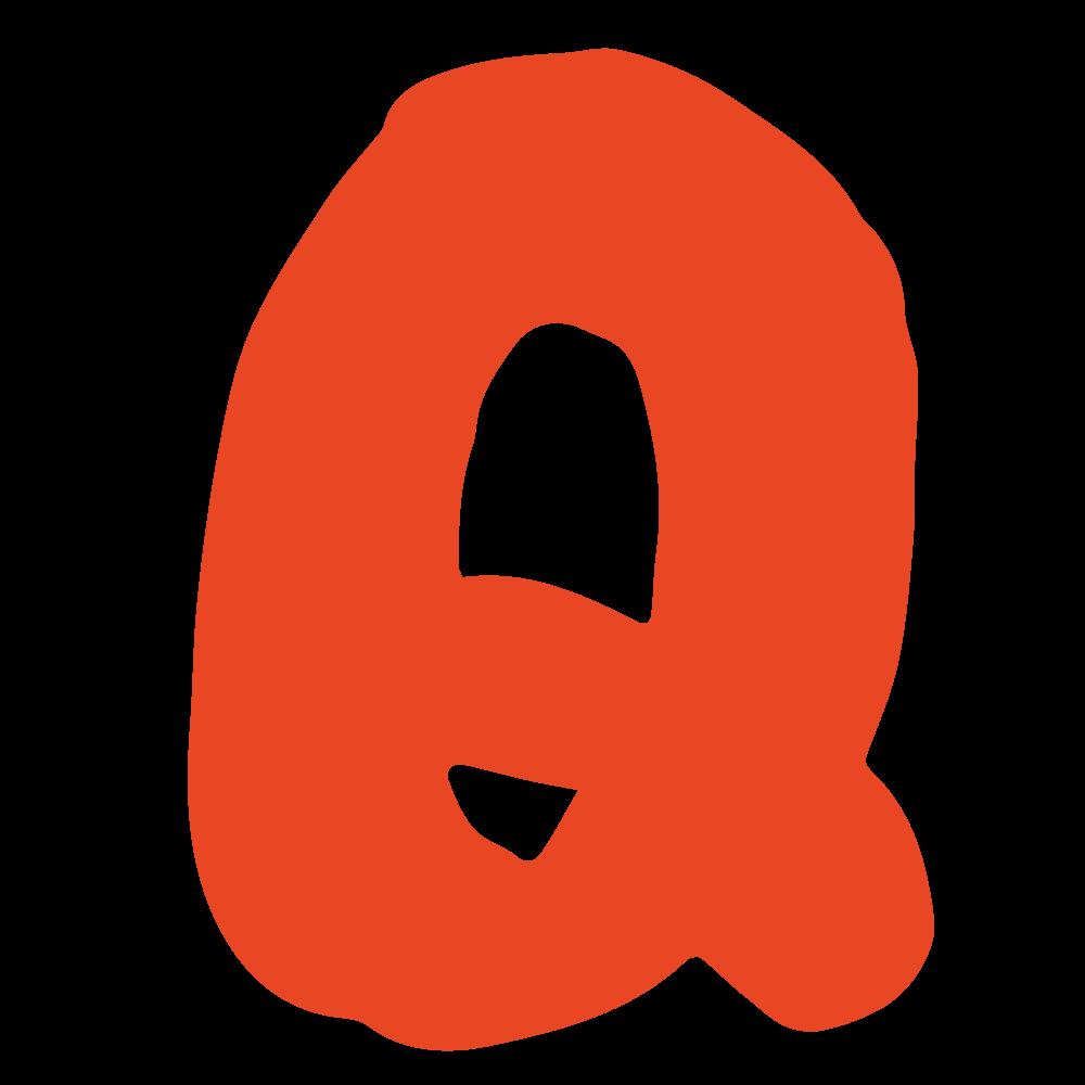 アルファベット「Q」