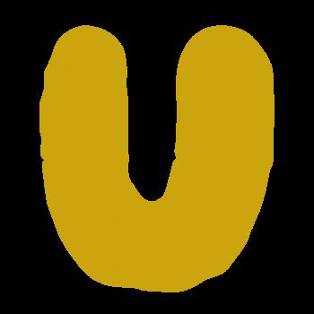 アルファベット「U」