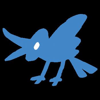 Twitterっぽい青い鳥のイラスト