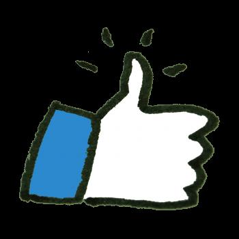 Facebookっぽいいいねアイコンのイラスト