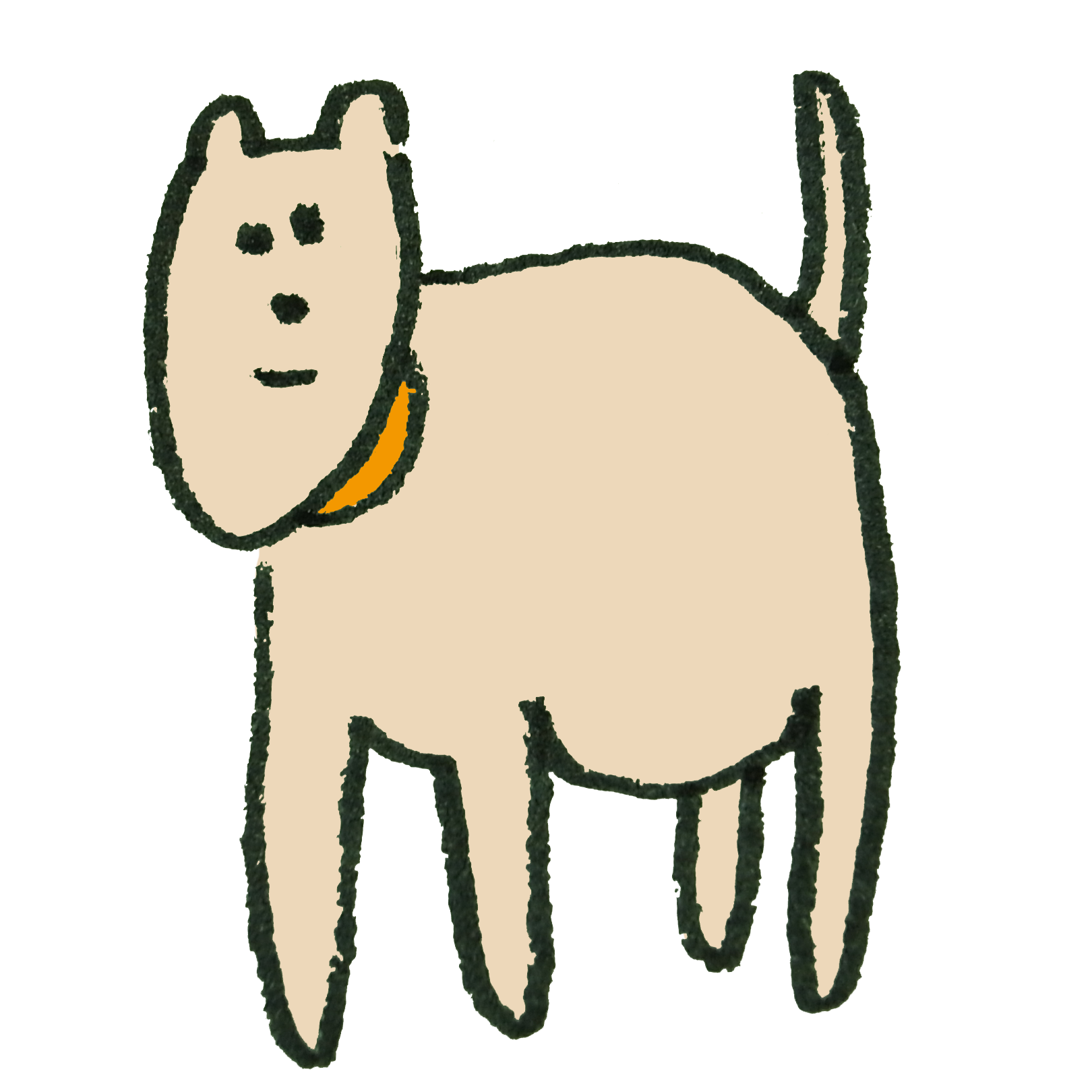 ピンク色の犬