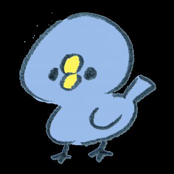 幸せの青い小鳥のイラスト