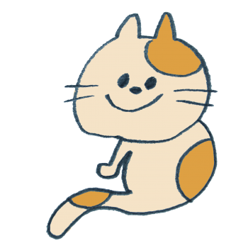 タマと名付けたくなる猫のイラスト