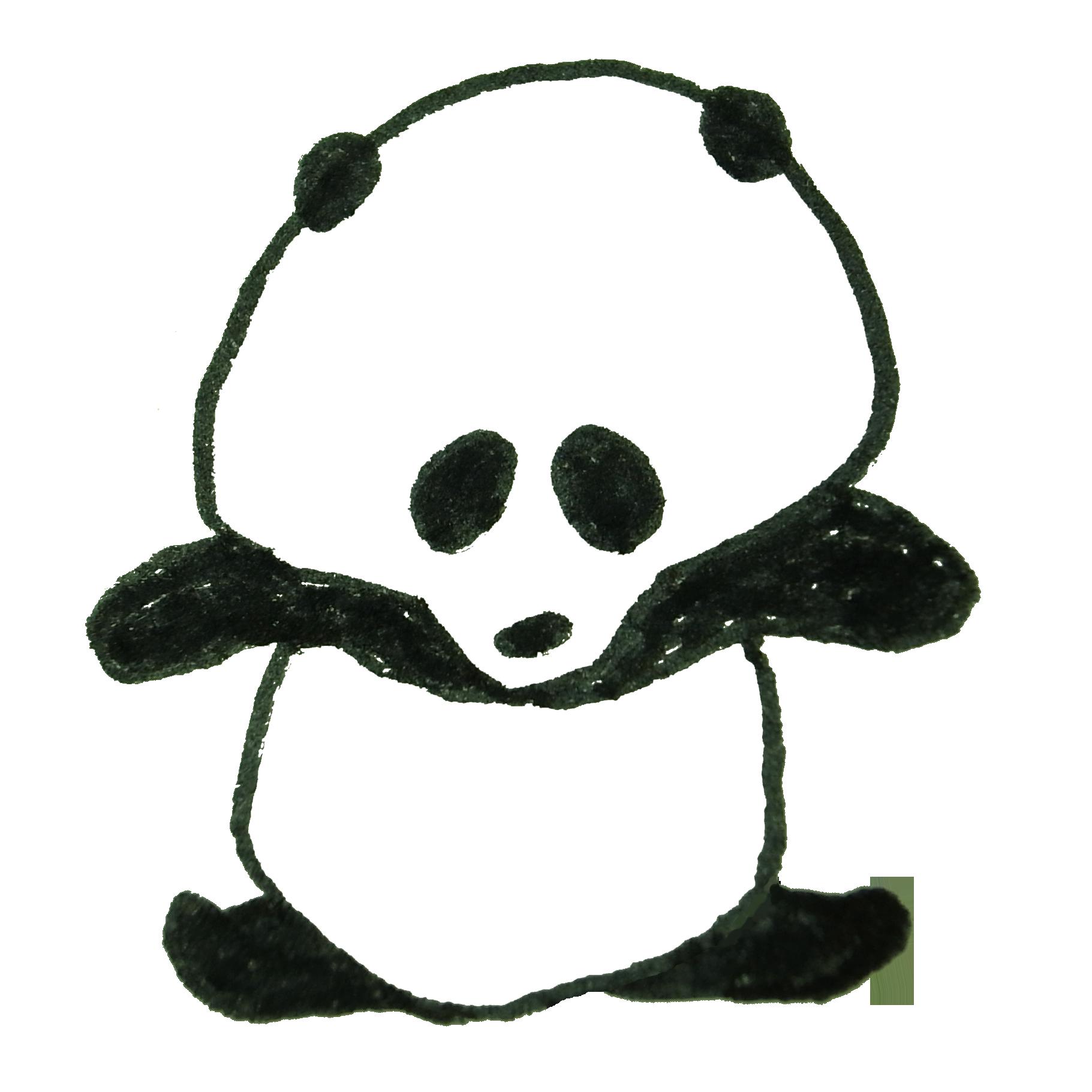 ストレッチをしようと試みるも、体が硬いパンダ