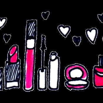 お化粧道具のイラスト