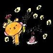 自分の誕生日を祝う熊