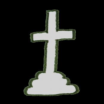 十字架のお墓のイラスト