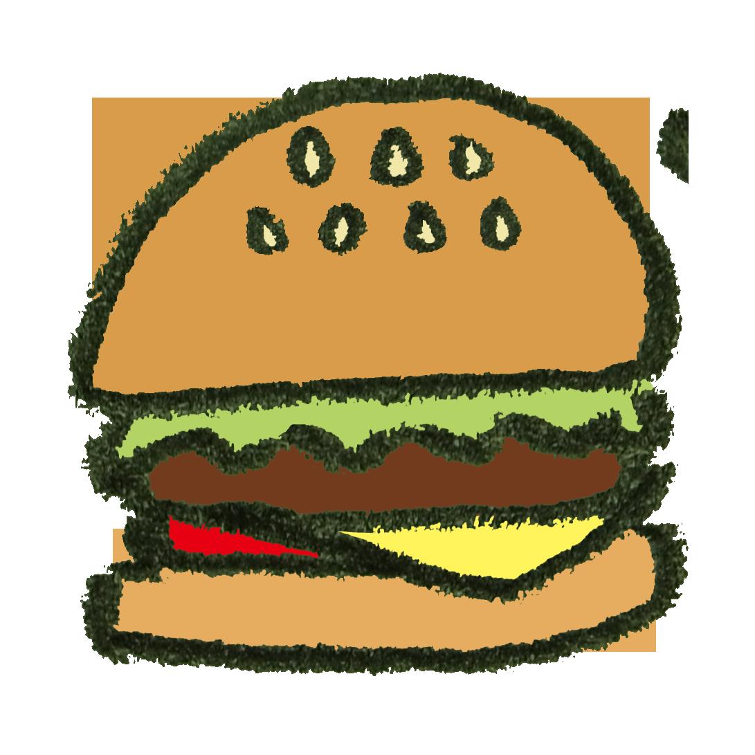 ハンバーガーのイラスト ゆるくてかわいい無料イラスト素材屋ぴよたそ