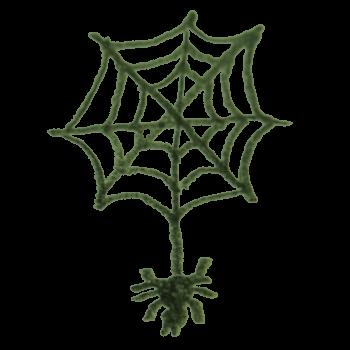 飾り用のクモのイラスト