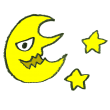 おばけ顔の月