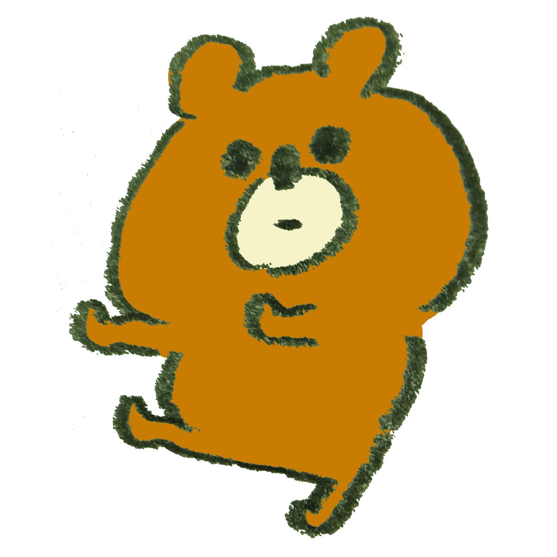 「その話を置いといて」とジェスチャーをする熊のイラスト
