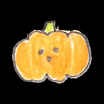しょっぱい顔のおばけかぼちゃのイラスト