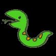 威嚇する蛇のイラスト