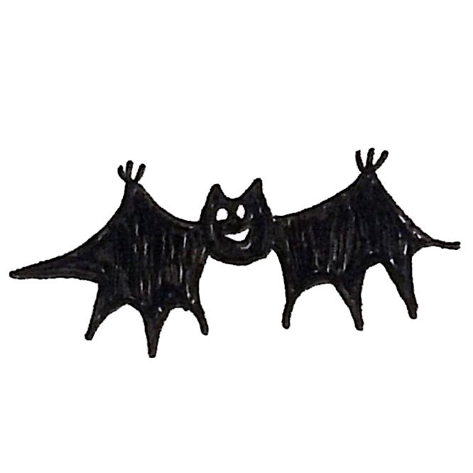 笑顔で飛ぶコウモリのイラスト ゆるくてかわいい無料イラスト素材屋