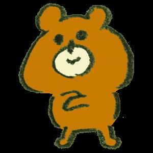 なるほど~と納得する熊