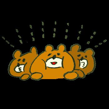 寄り添う熊のイラスト