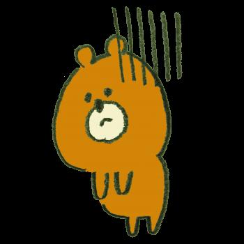 体調が悪い熊のイラスト