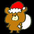 熊のサンタクロース