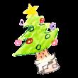 飾りつけの済んだクリスマスツリー