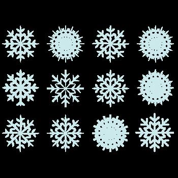 雪の結晶のイラストセット
