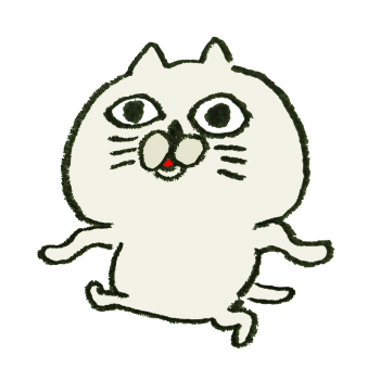 ムカつく顔の猫のイラスト