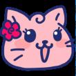 女の子顔の猫アイコン