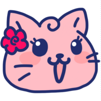 女の子顔の猫アイコンイラスト