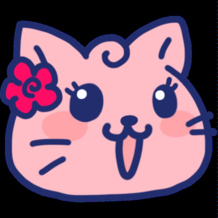 女の子顔の猫アイコンイラスト ゆるくてかわいい無料イラスト素材屋