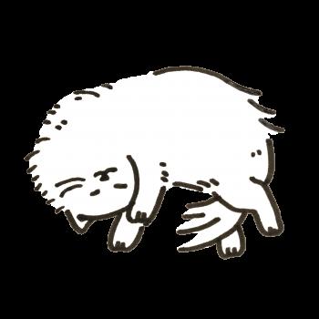 暖かい部屋で眠る猫のイラスト