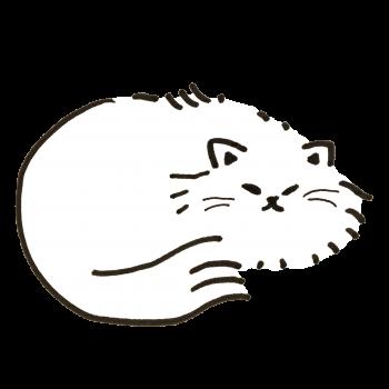 寒いところで眠る猫のイラスト