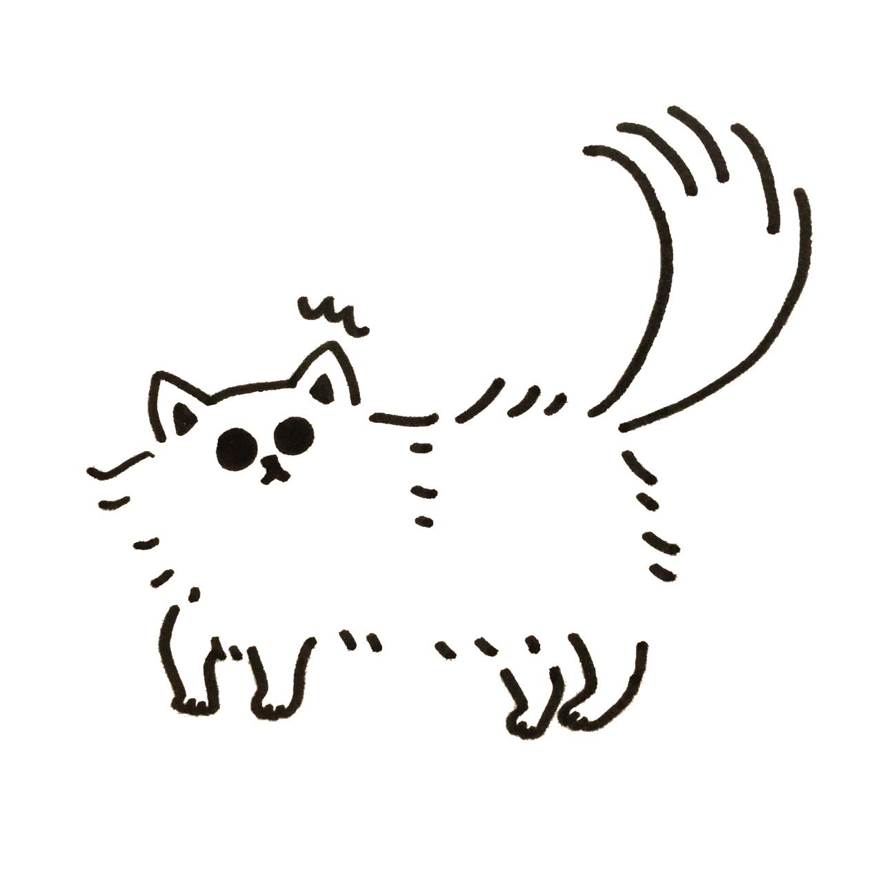 突然の音に驚く猫