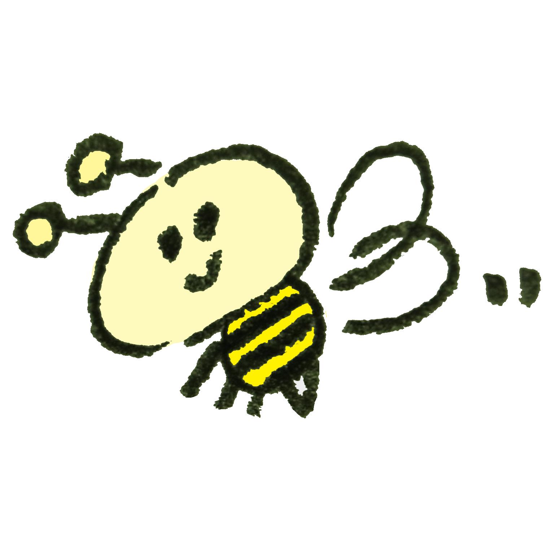 ミツバチさんのイラスト ゆるくてかわいい無料イラスト素材屋 ぴよたそ