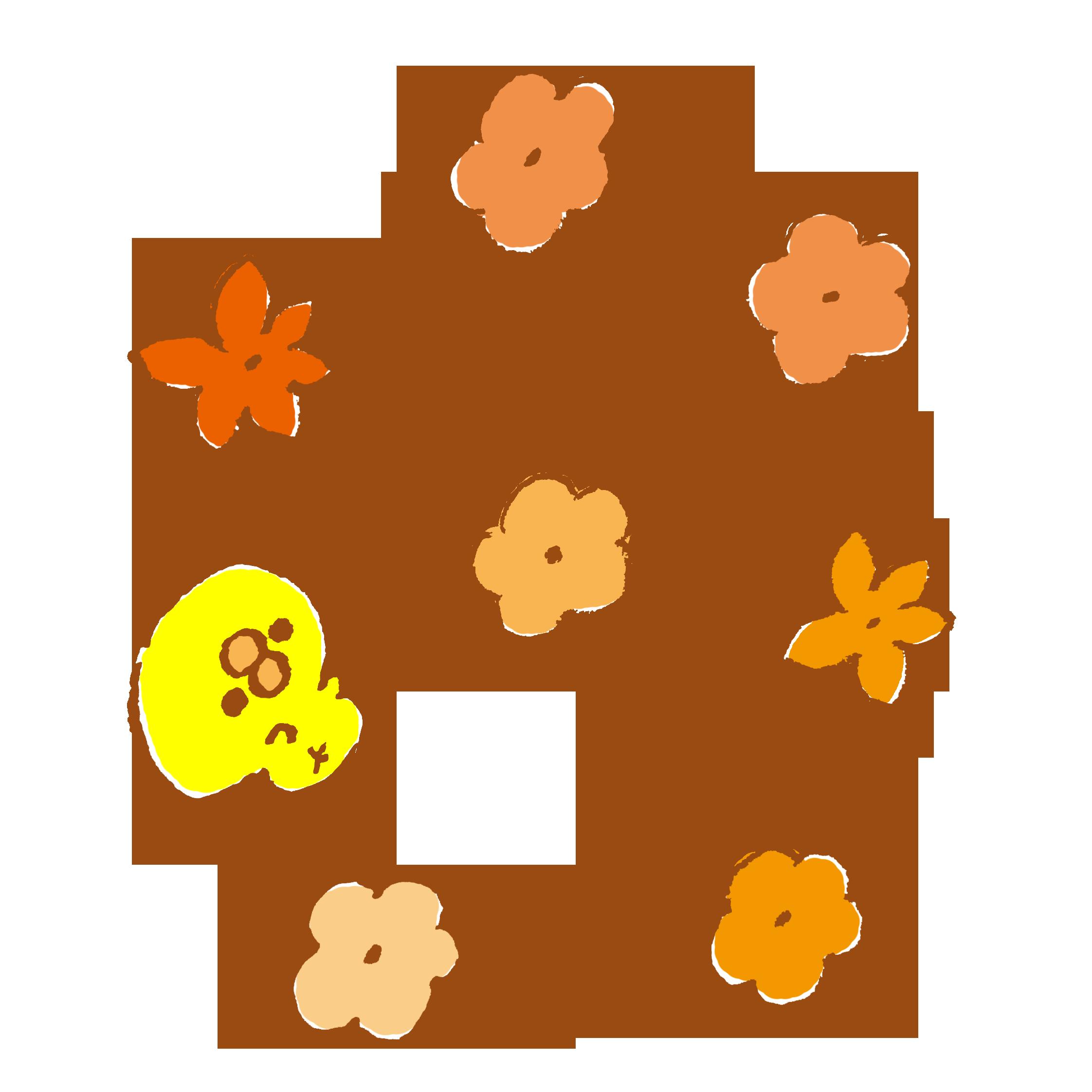 花とひよこ