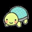 ほのかに笑顔の亀さん