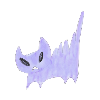 ケンカ上等の猫のイラスト