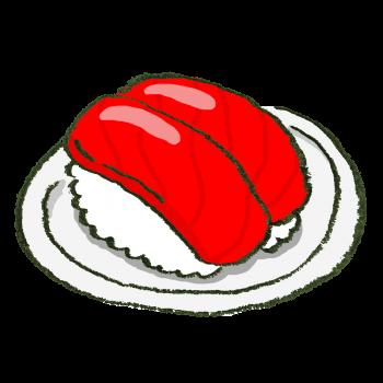 マグロのお寿司のイラスト