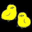 2羽のひよこ