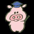 解説する豚
