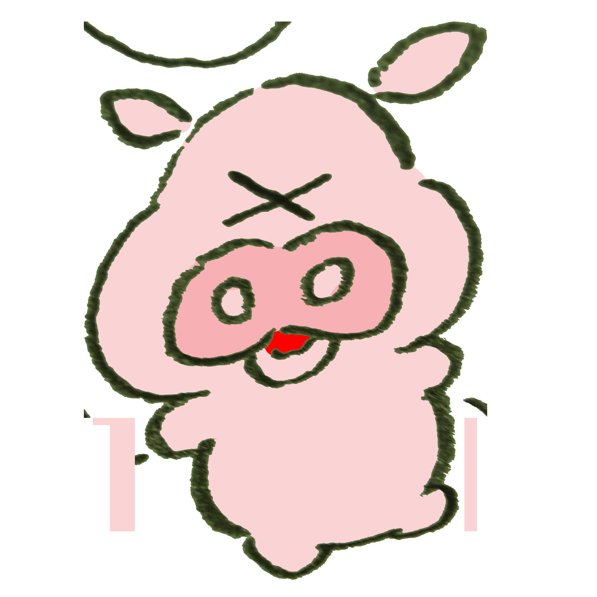 びっくりすることがあった豚