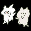 踊る猫2匹