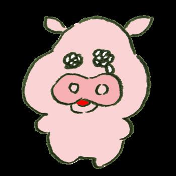 泣いている豚のイラスト
